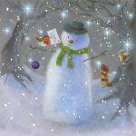 854-snowman-robin-letter