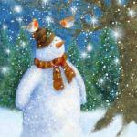 908-snowman-robins-tree